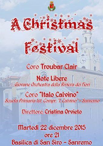 22 dicembre 2015 Troubar Clair Note Libere Coro Calvino San Siro Sanremo